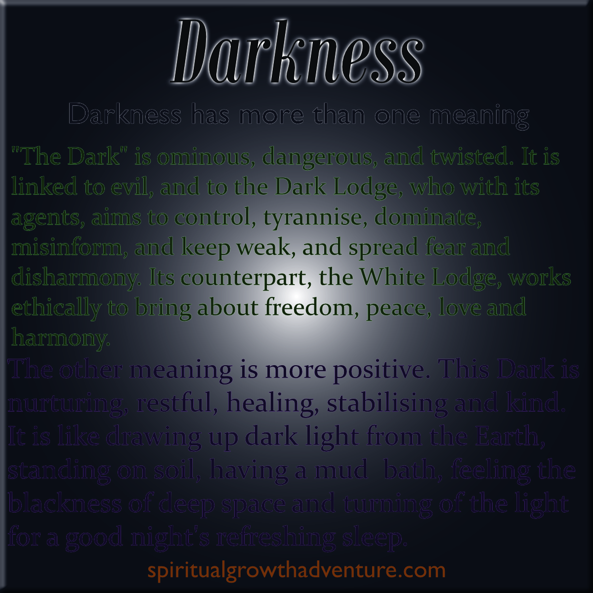about darkness